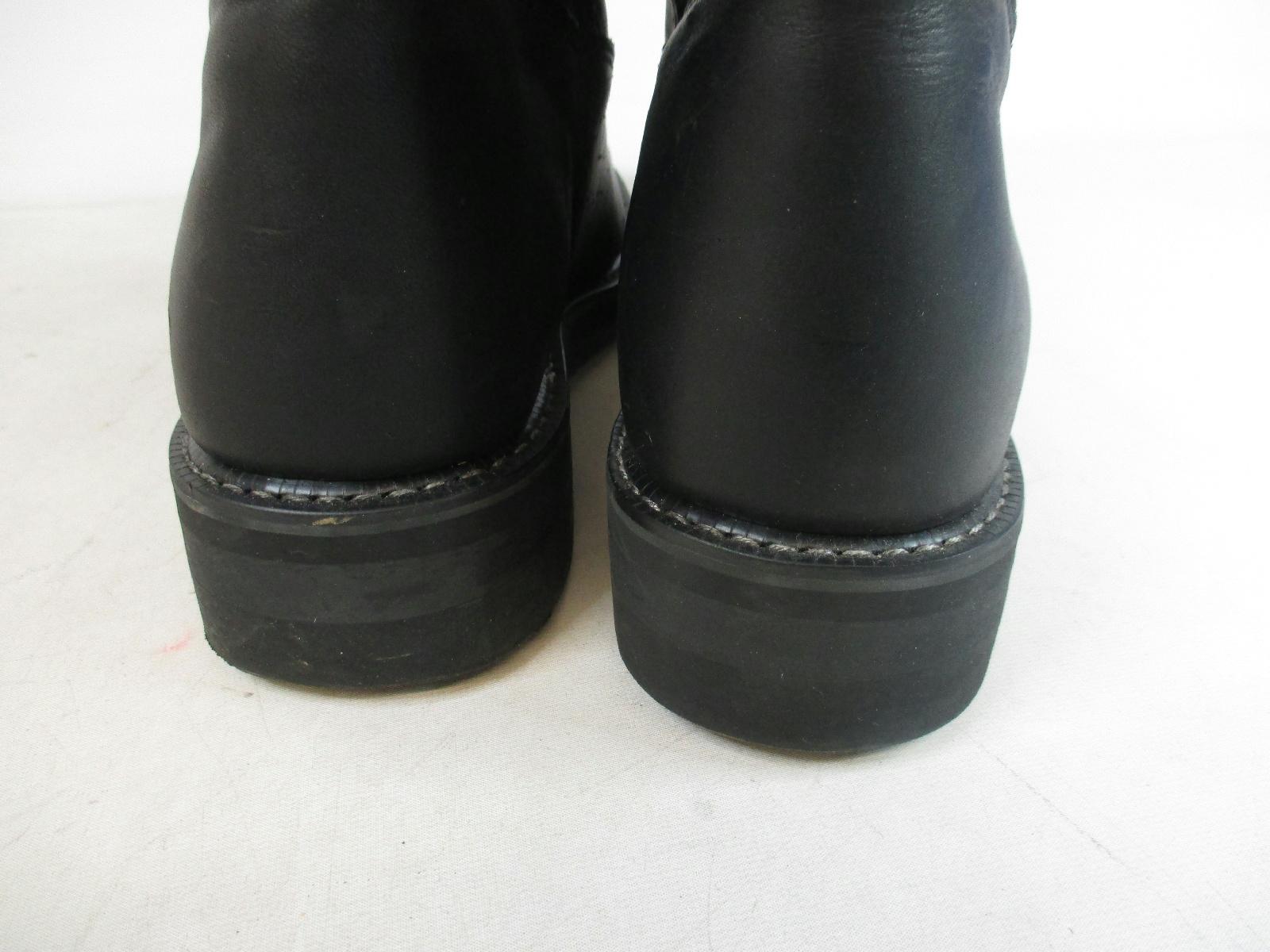 Details about Mason Shoe Black Oil Resistant Work Boots Shoes Mens