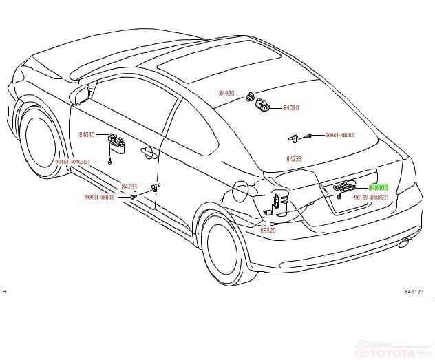Select Years Scion Toyota Lexus Oem Back Door Switch 84840 21010