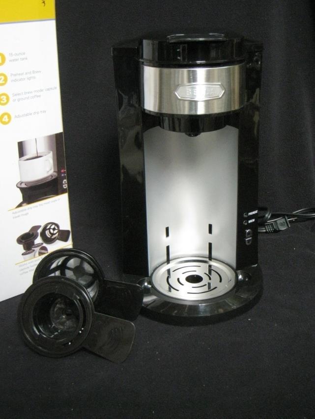 Dual Filter Coffee Maker : Bella 14392 Dual Brew Coffee Maker Black Keurig Alternative eBay