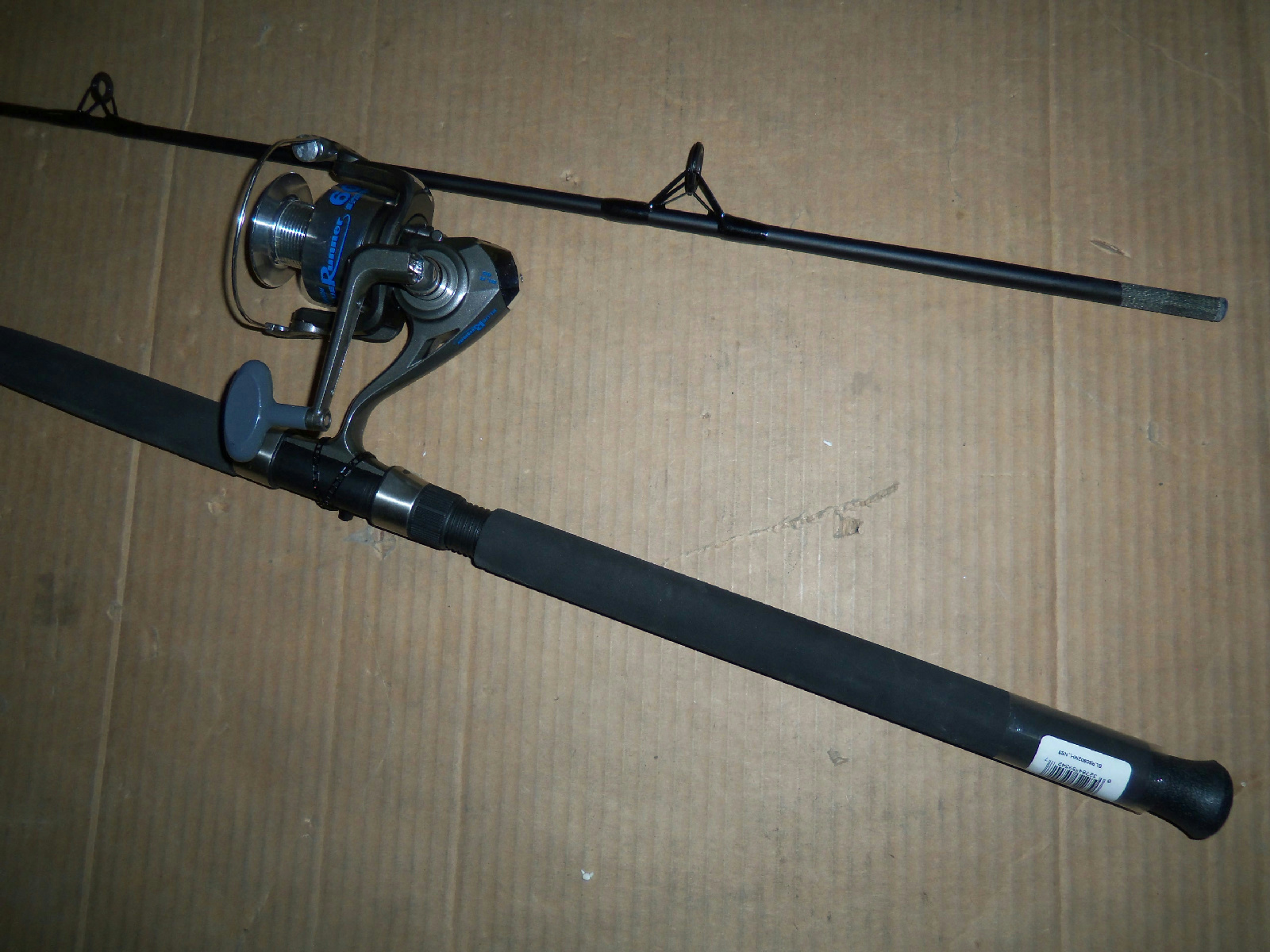 New open box quantum blr60f blrs802mh 2 pc spin fishing for Open reel fishing pole