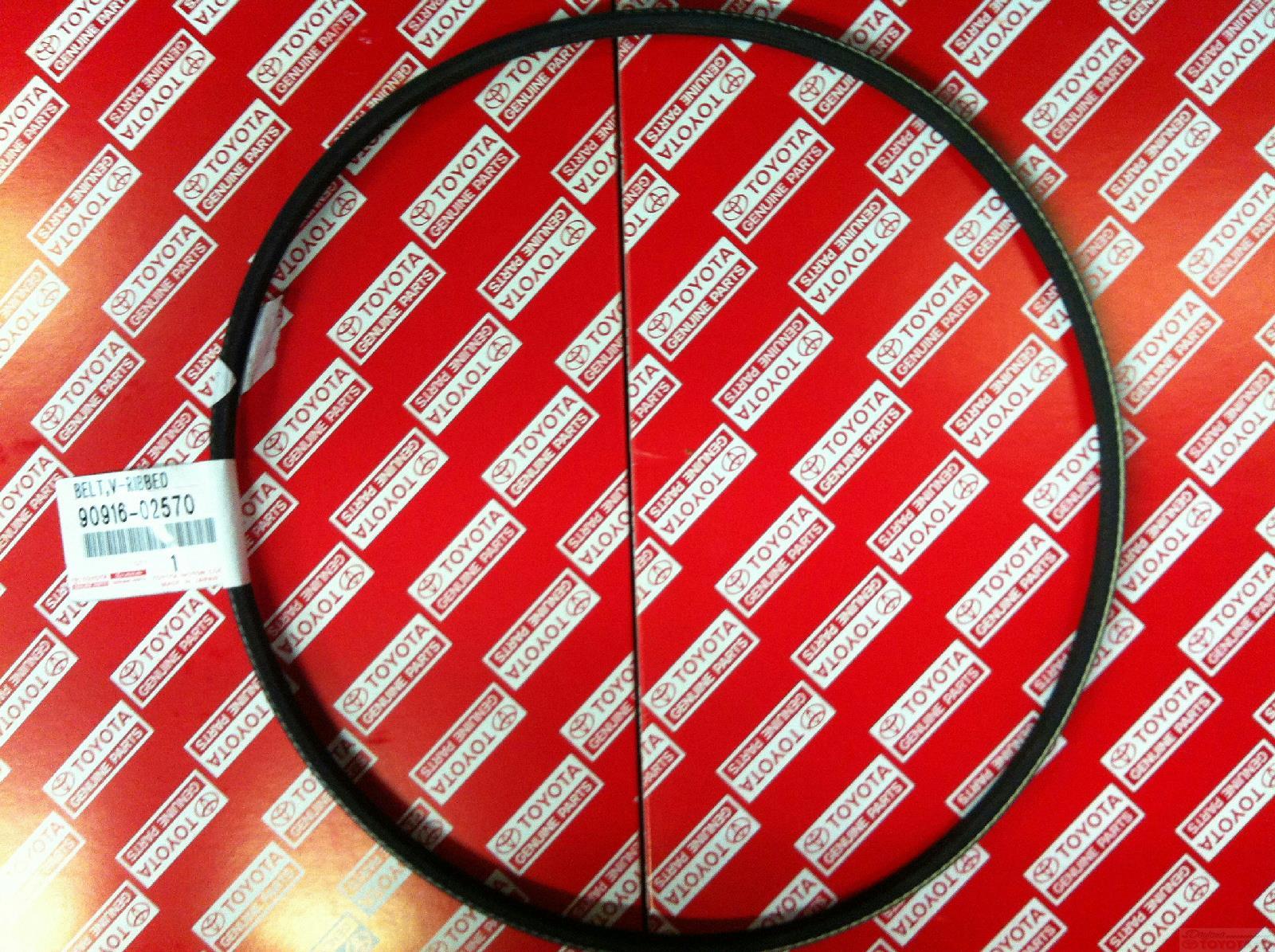 Toyota Genuine Parts >> Toyota Genuine Parts 90916 02570 Alternator And Fan Belt