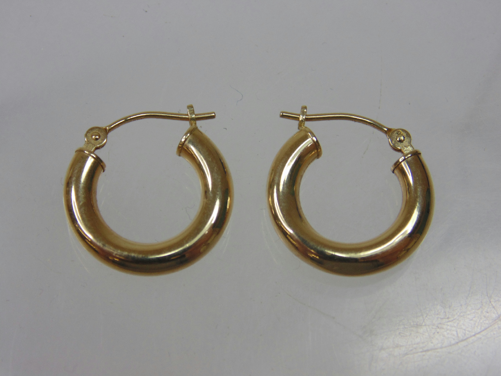 14 kt yellow gold hoop earrings tested jewelry 5 quot diameter