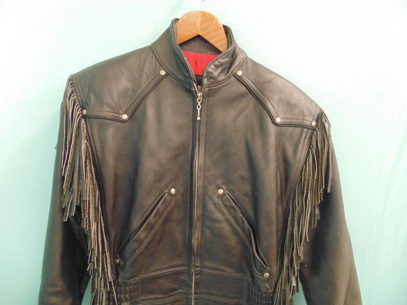 Details about Harley Davidson Women's XS Leather Jacket With Fringe