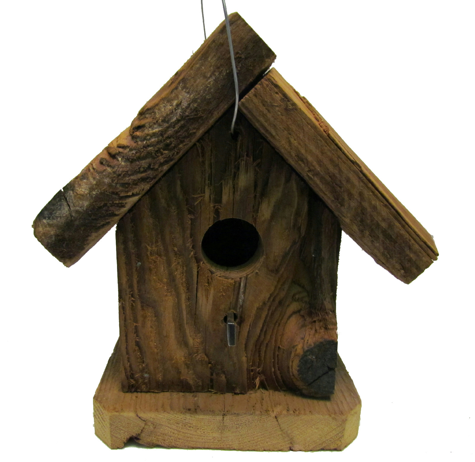 Bird N Hand Natural Wood Small Rustic Birdhouse Decorative