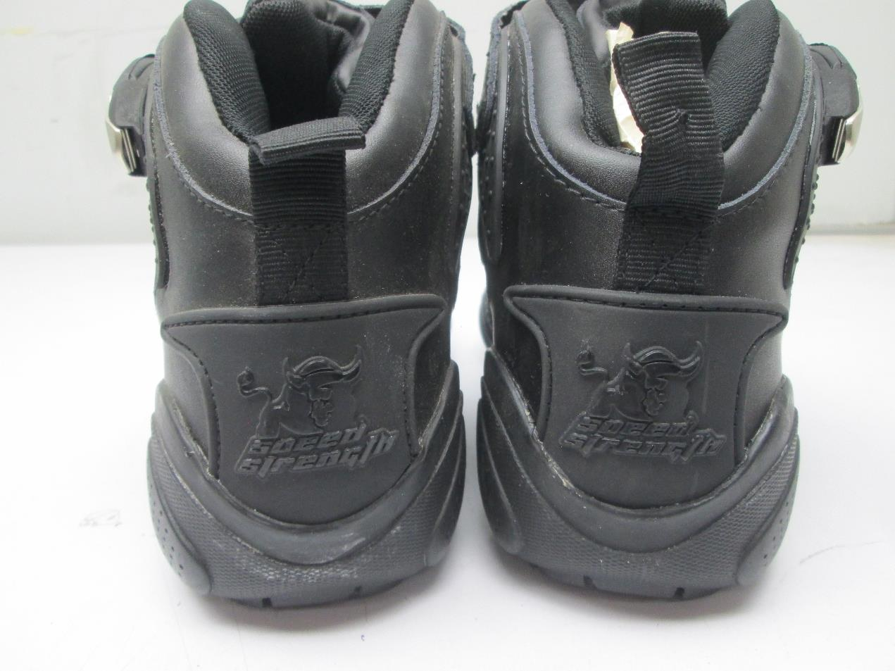 SPEED AND STRENGTH Moment of Truth Motorcycle Shoes Black ...
