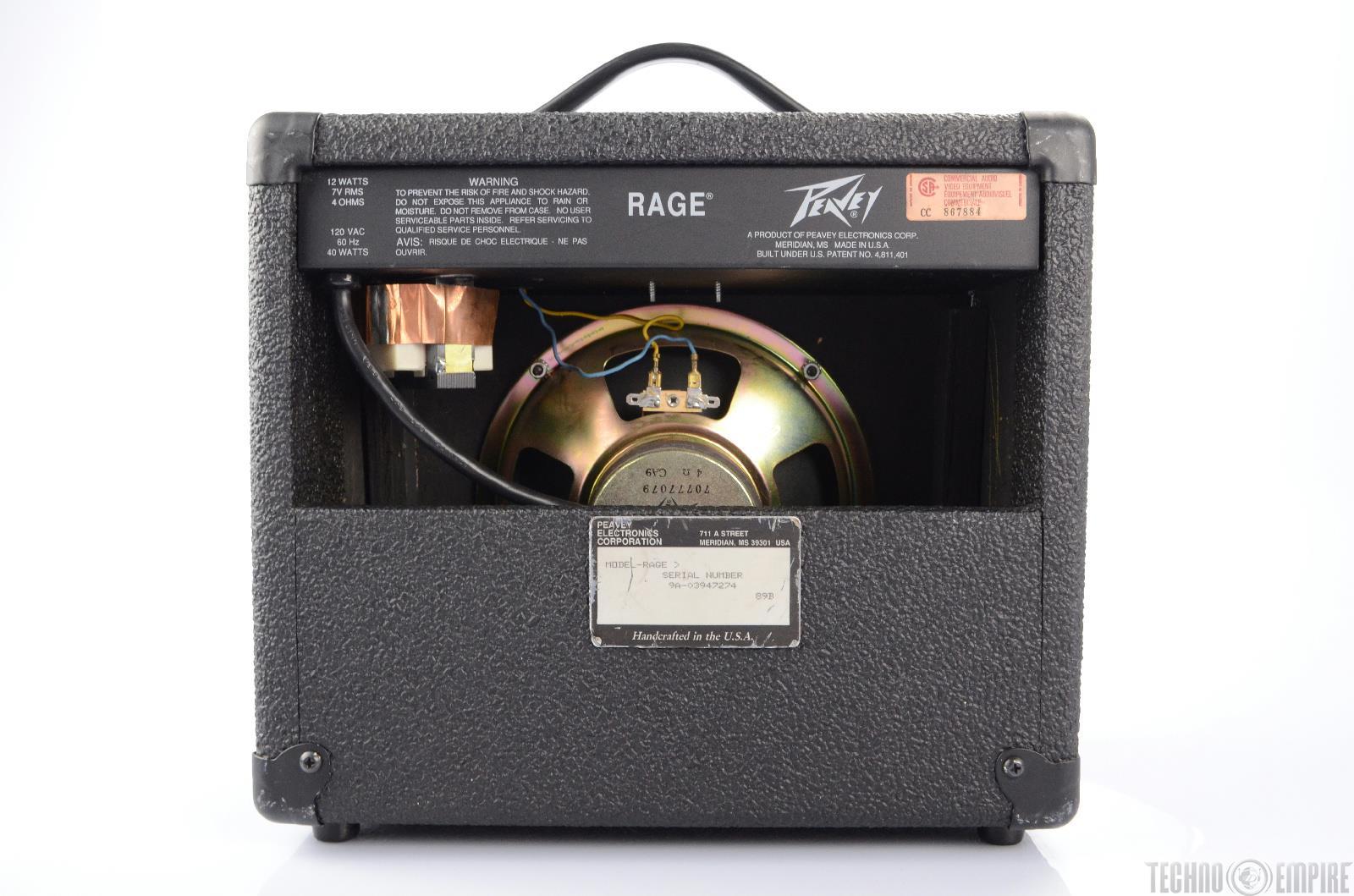 peavey rage 12 watt 12w combo guitar portable beginner amp amplifier 21871 ebay. Black Bedroom Furniture Sets. Home Design Ideas