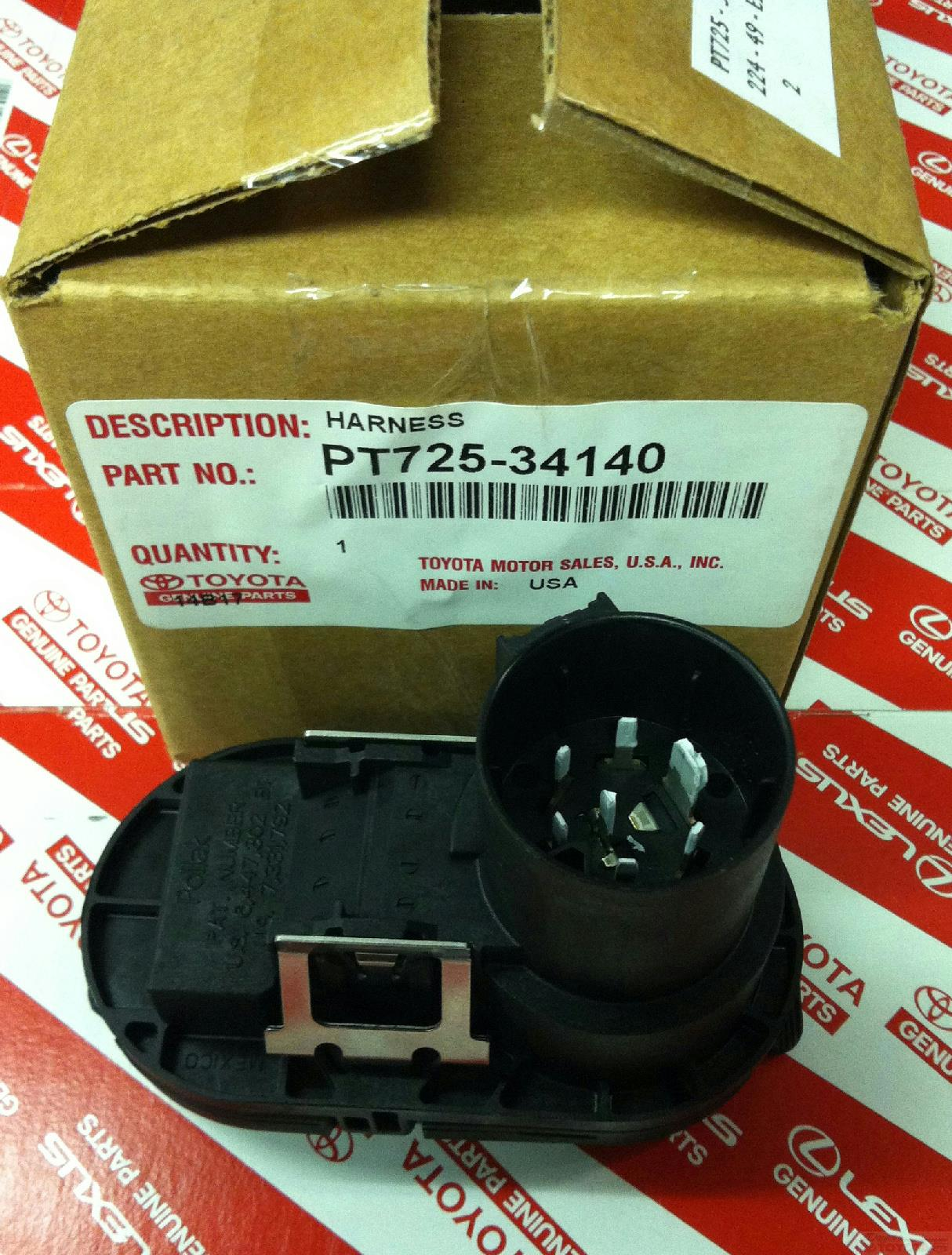2014 Tundra Trailer Harness Manual Guide Wiring Diagram Toyota 7 Pin 2015 And 4 Connector Pt725 34140 Rh Ebay Com