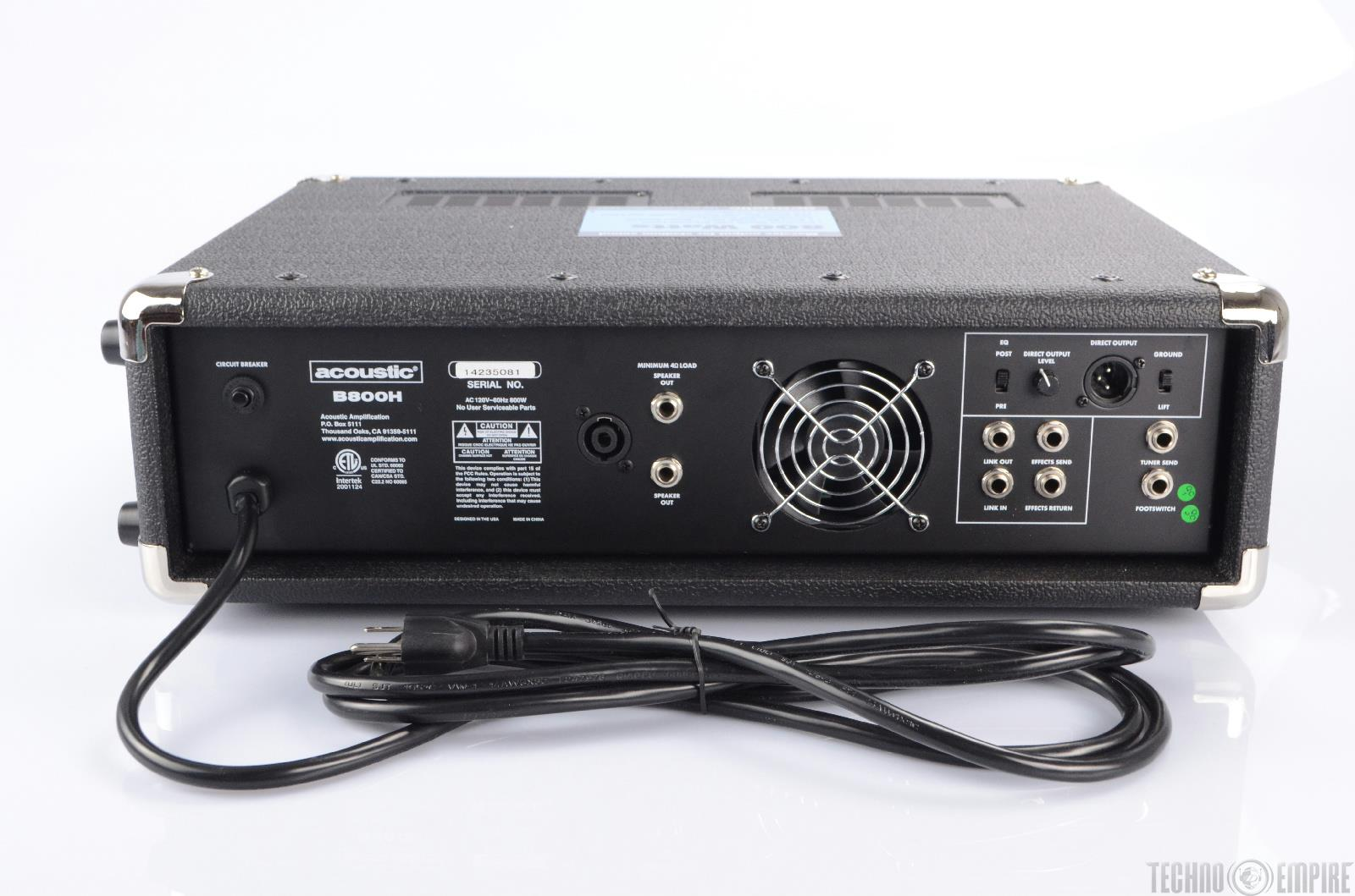 acoustic b800h 800w bass guitar amplifier amp head new 21830 ebay. Black Bedroom Furniture Sets. Home Design Ideas