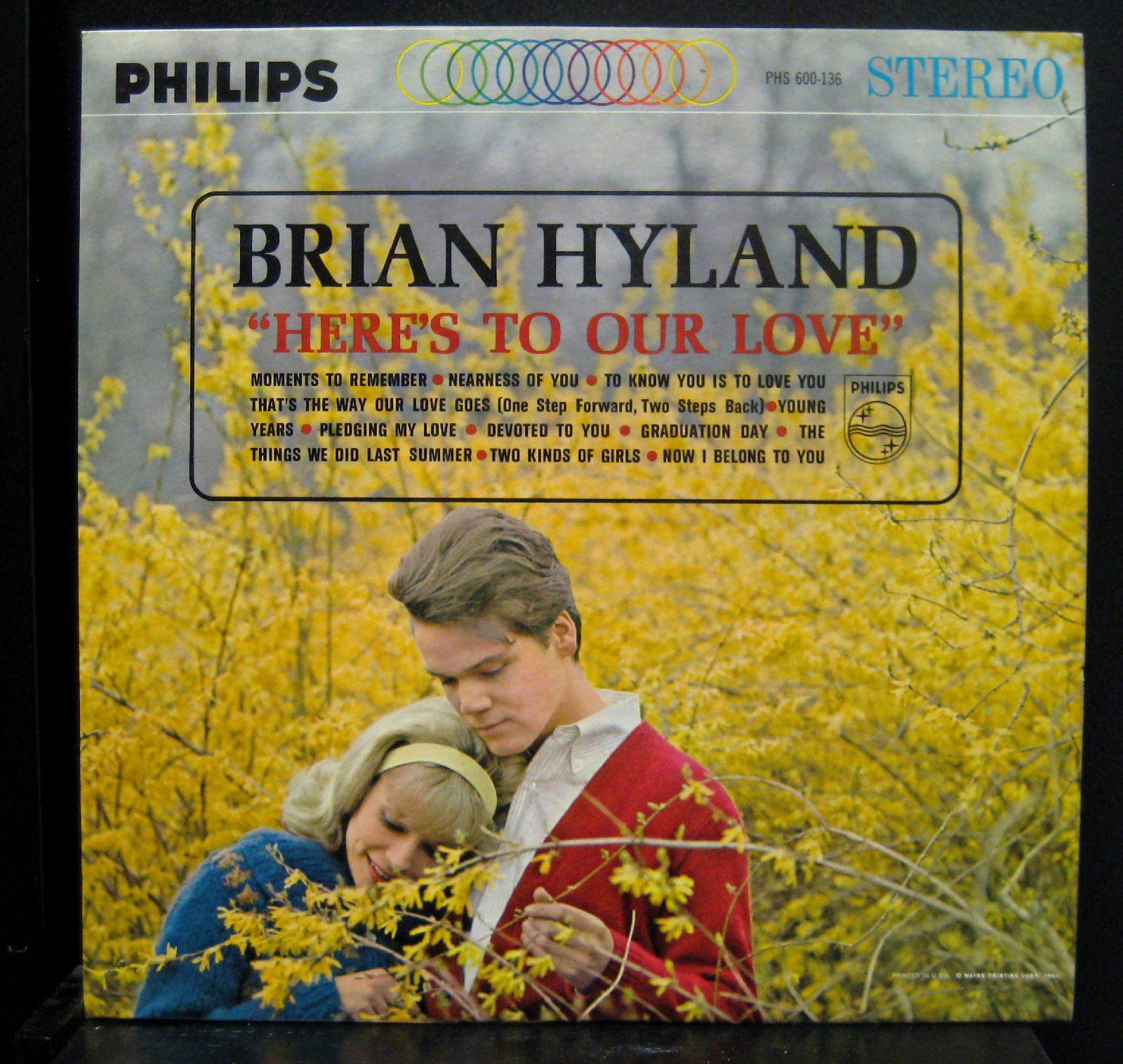 Brian Hyland - Brian Hyland Here's To Our Love Lp Vg+ 1964 Stereo Usa Phs 600-136 Promo Wlp (here's To Our Love)