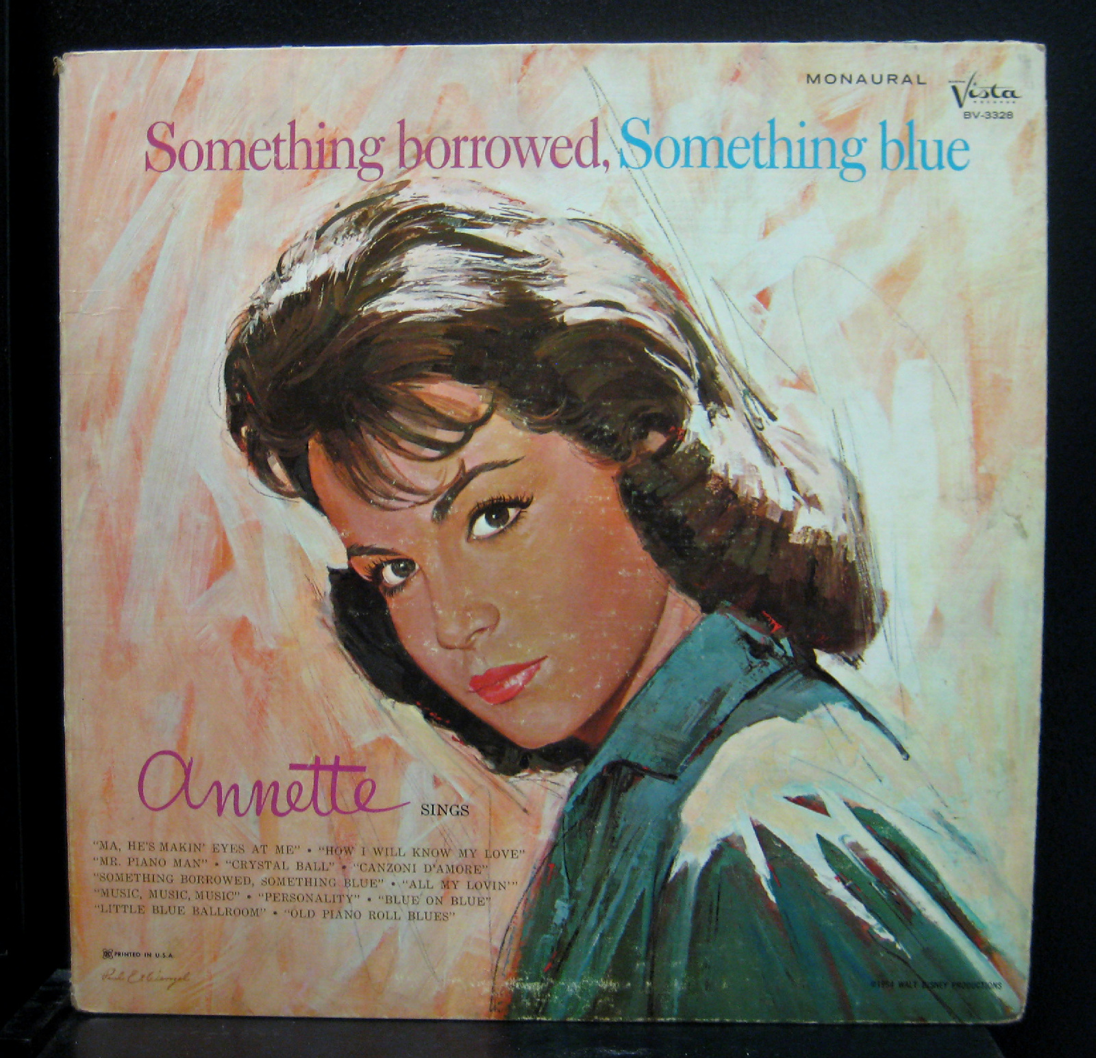 Annette Funicello - Annette Funicello Something Borrowed Something Blue Lp Vg- 1964 Usa Bv-3328 (something Borrowed, Som