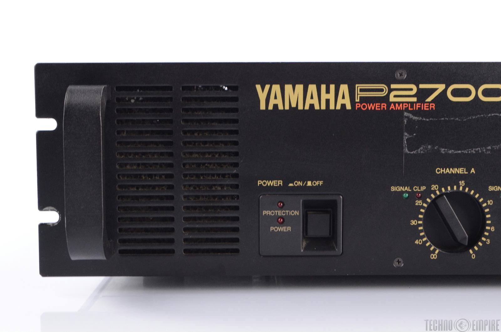 yamaha p2700 2 channel power amplifier 350w per ch 8 ohm 21988 ebay. Black Bedroom Furniture Sets. Home Design Ideas