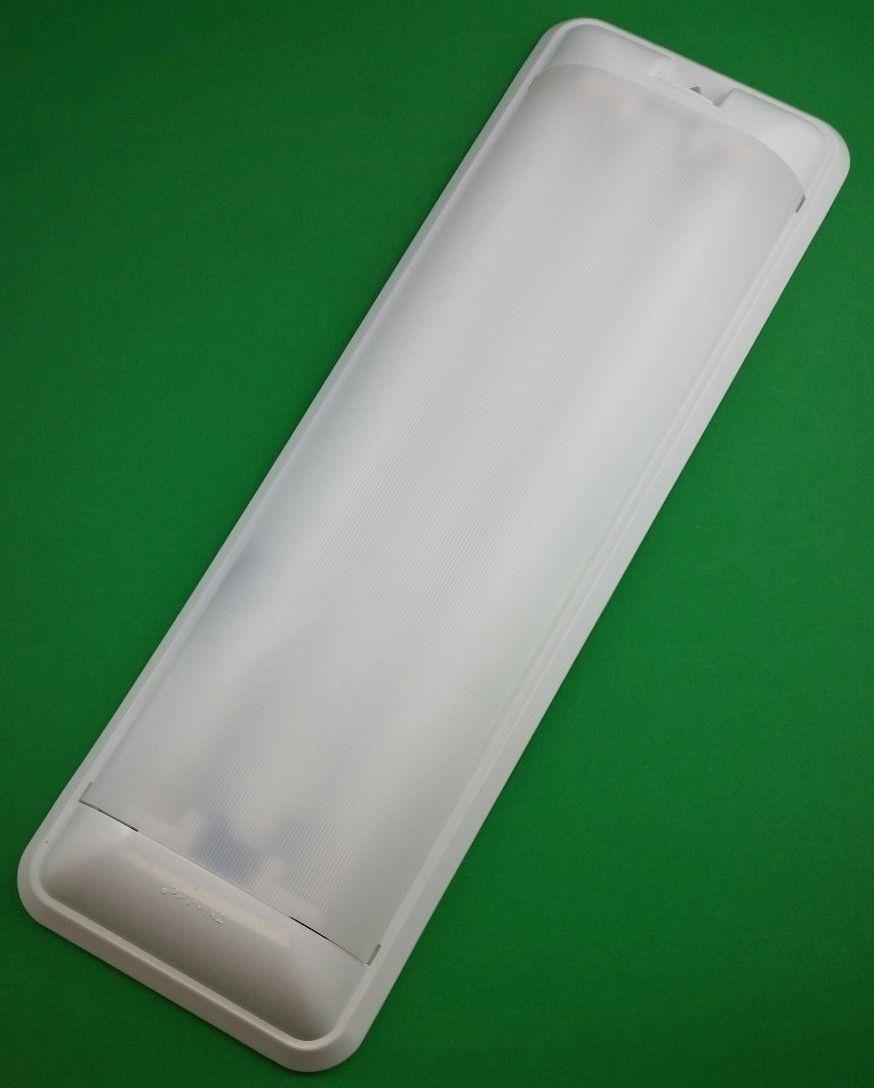 Rv 12 Volt Fluorescent Light Double Bulb Thin Lite 656