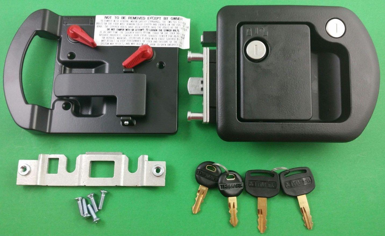 Rv Motorhome Entry Door Lock 60 650 Trimark Black 060 1650