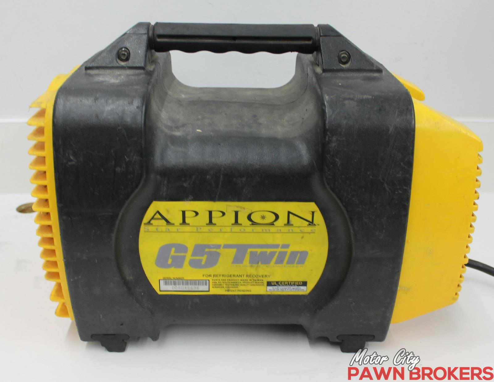 appion recovery machine