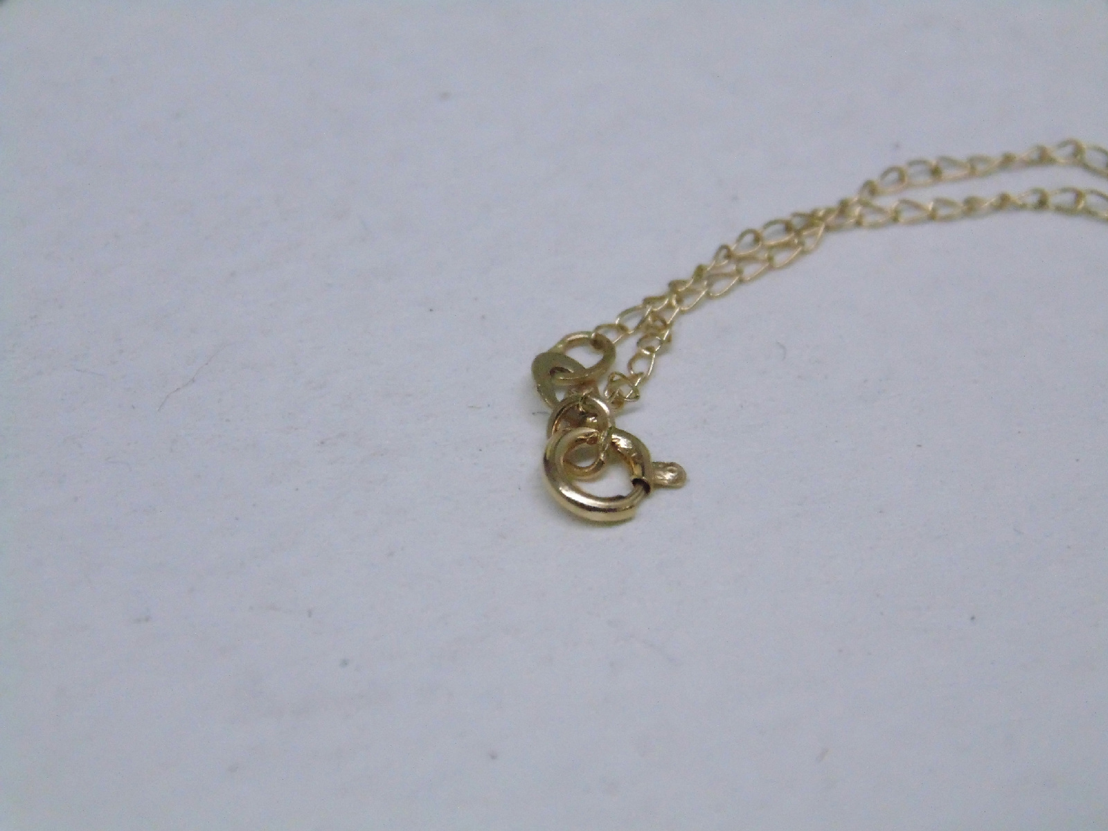 necklace 14k yellow gold delicate chain 17 5 034