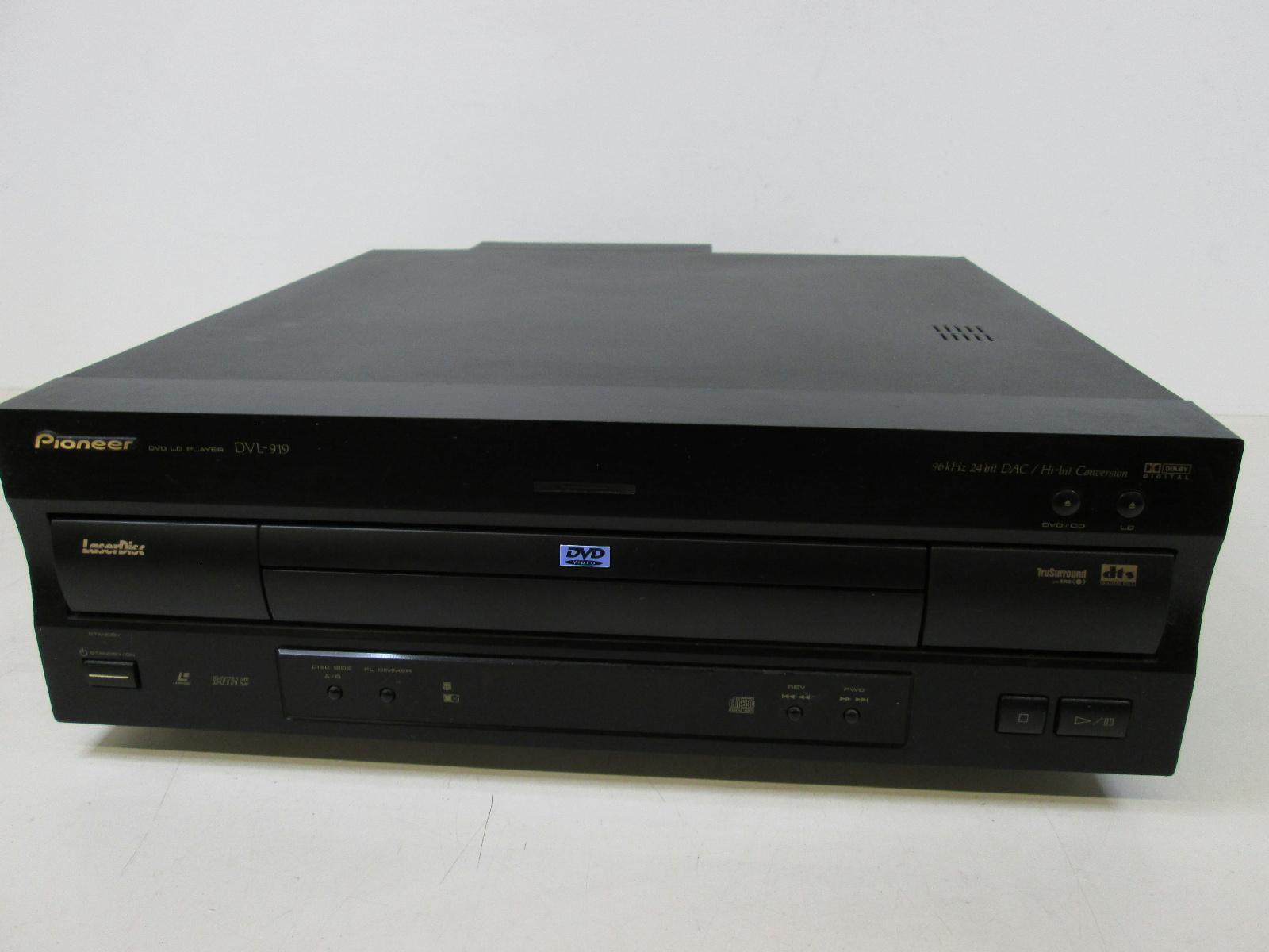 pioneer dvl 919 laserdisc dvd player bundle 10 discs. Black Bedroom Furniture Sets. Home Design Ideas