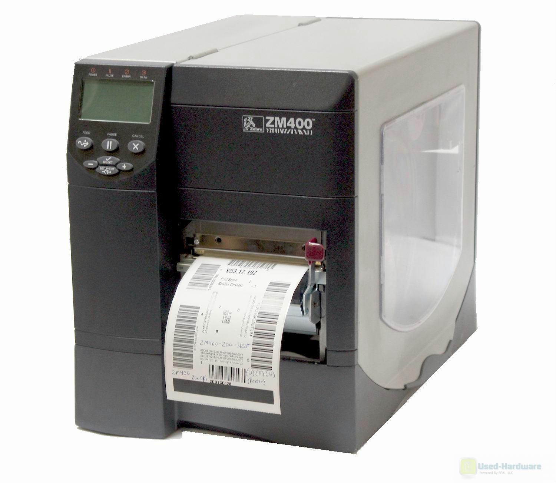 Zebra ZM400 ZM400-2001-3100T Thermal Barcode Label Printer