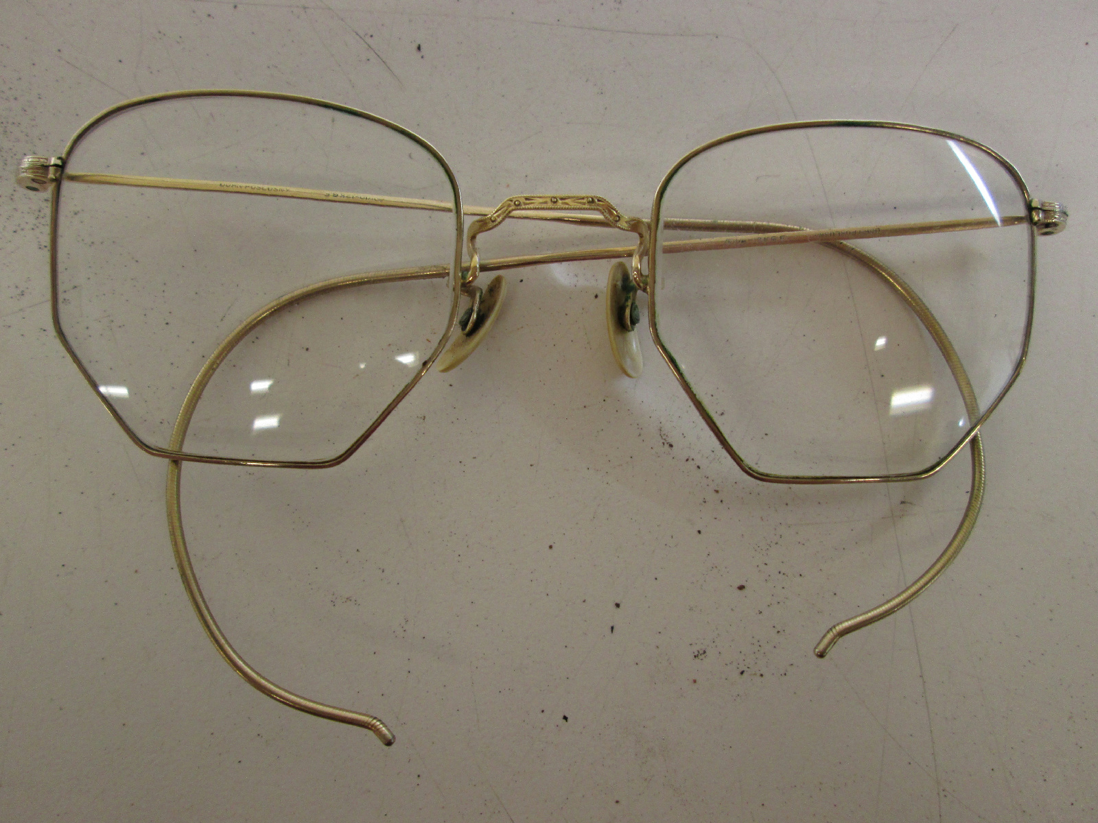 Lot of 2 Antique Gold Filled Eyeglasses Wire Rim Reading ...