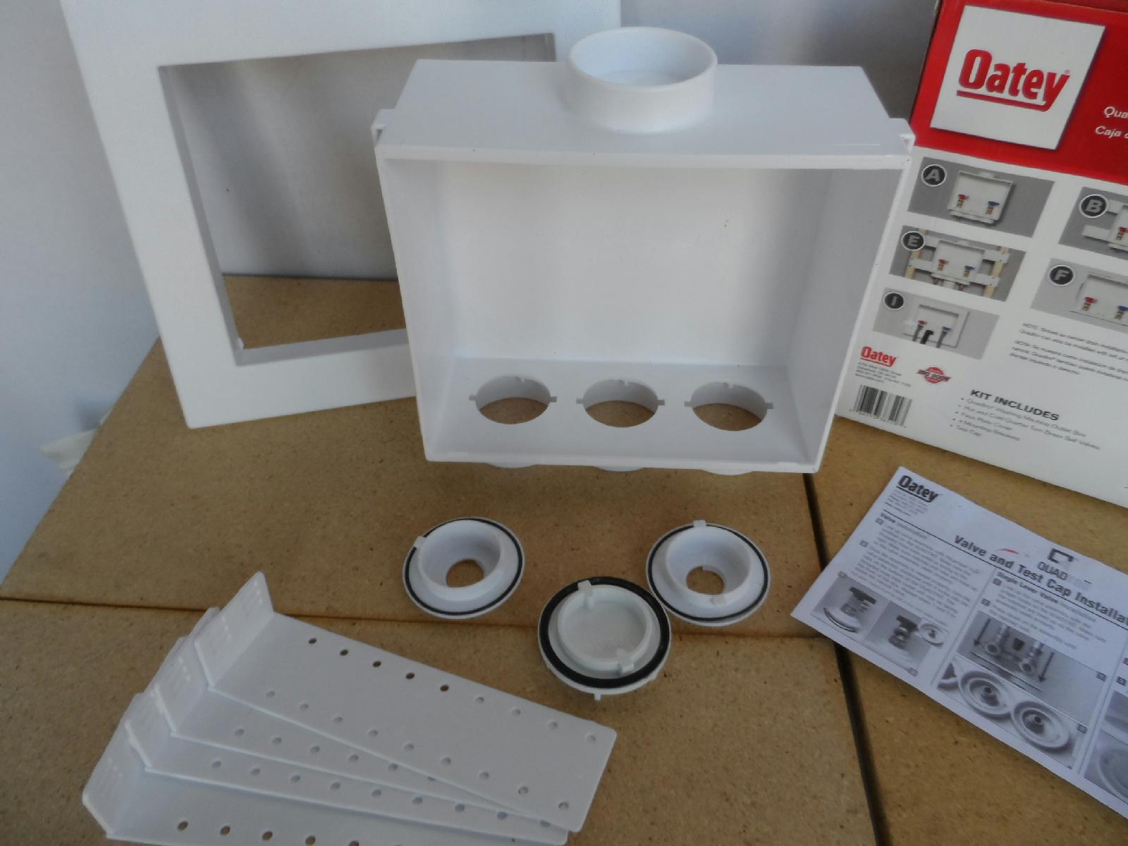oatey quadtro washing machine box