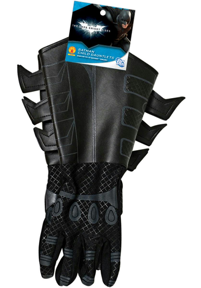 Dark Knight Rises Batman Gauntlet Gloves Adult Costume Gloves Movie Deluxe Teen