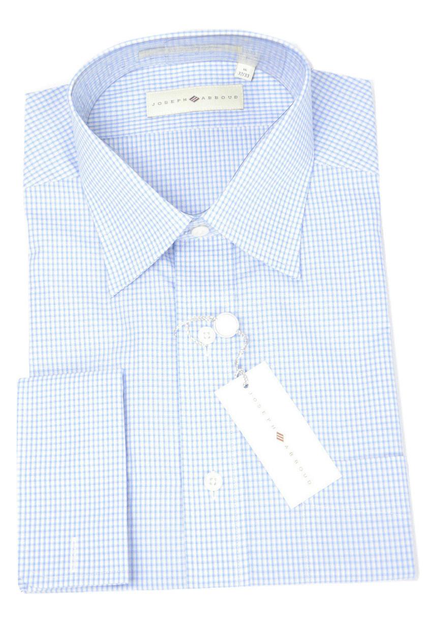 Nwt joseph abboud mens mini check blue white gingham for Joseph abboud dress shirt