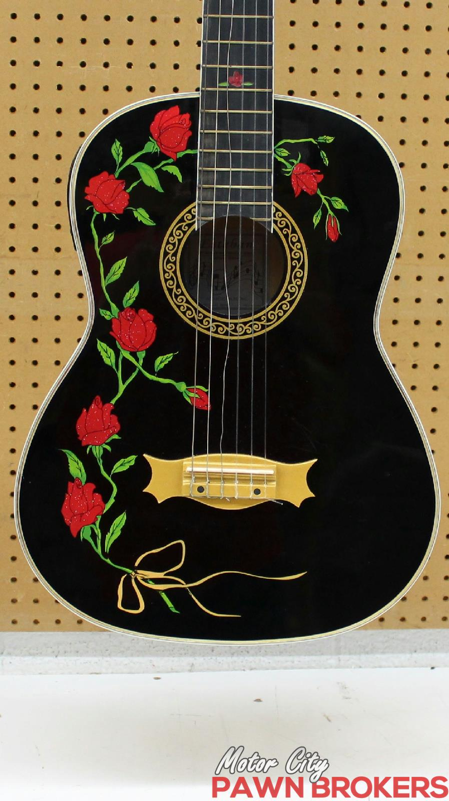Esteban 8th Anniversary 6 String Rose Design