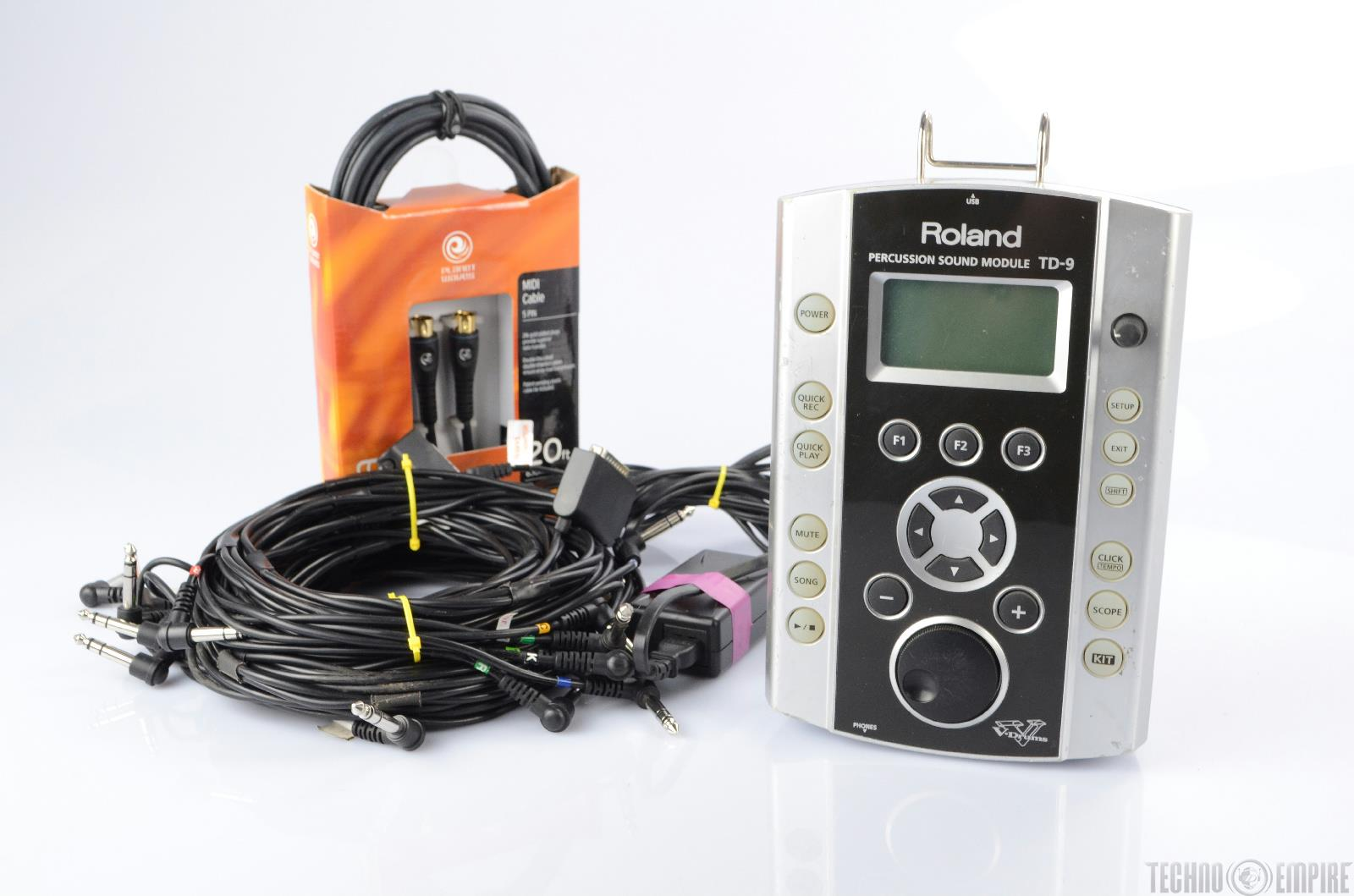 roland td 9 v drum sound module w trigger harnesses planet waves midi 22361 ebay. Black Bedroom Furniture Sets. Home Design Ideas
