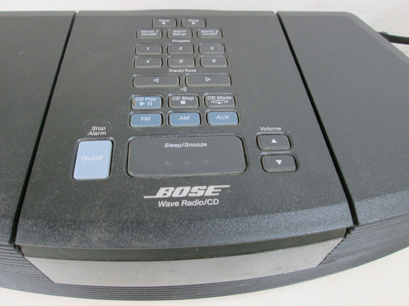 bose wave radio cd player model aw rc g1 black with remote. Black Bedroom Furniture Sets. Home Design Ideas