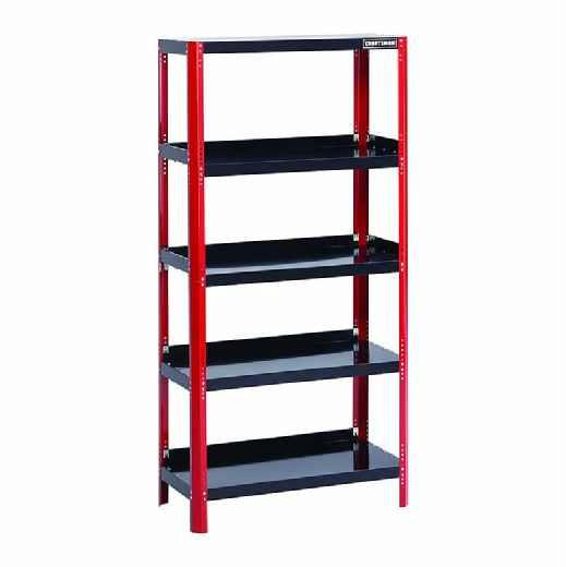 craftsman 36 inch wide steel shelving unit in red black. Black Bedroom Furniture Sets. Home Design Ideas