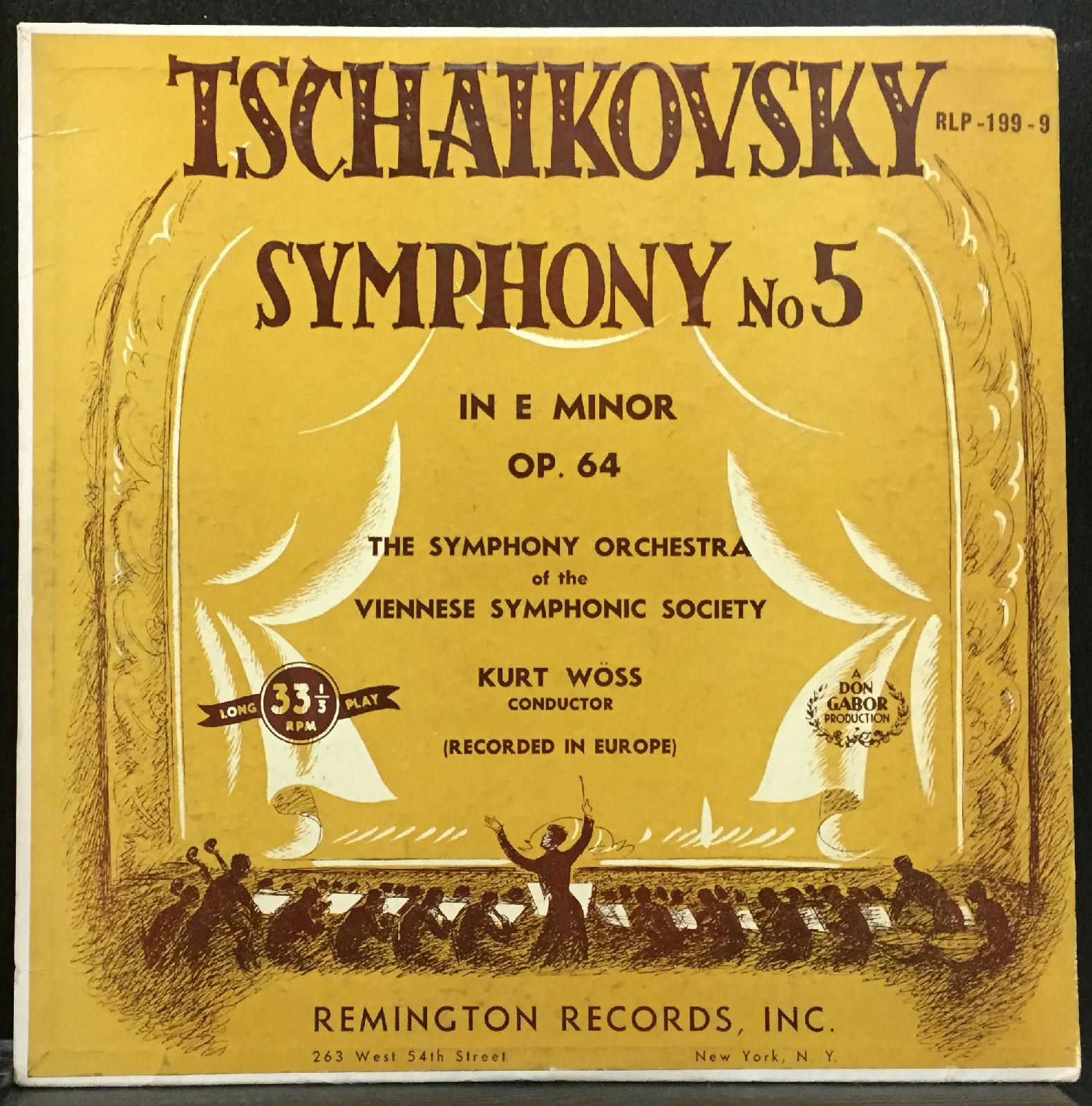 Kurt Woss Tchaikovsky 1812 Strauss Don Juan Vg 1953 Remington Rlp