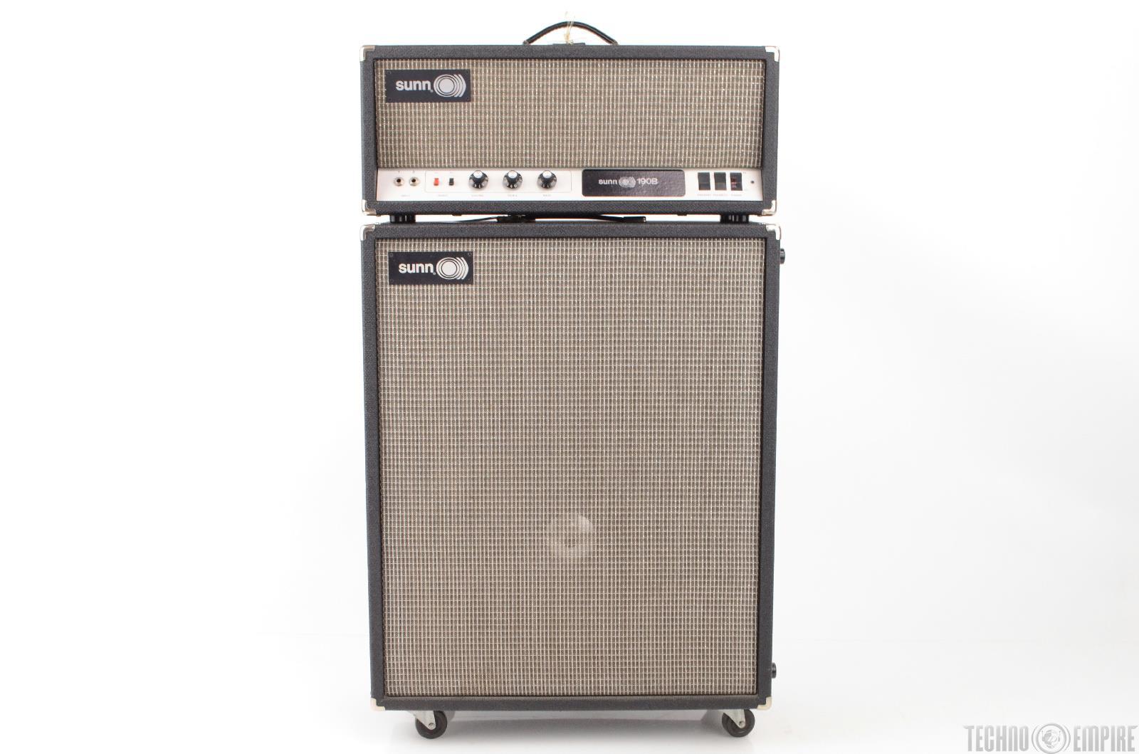 1x15 Guitar Cabinet 1972 Sunn 190b Guitar Bass Tube Amplifier Amp Head W Sunn 1x15