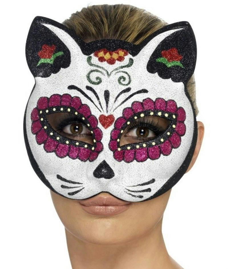 day of the dead skull mask template - day of the dead sugar skull cat eye mask