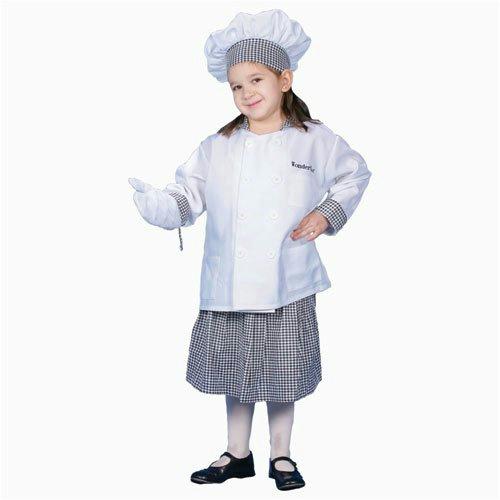 deluxe girl chef child costume dress up set size large 12 14 ebay. Black Bedroom Furniture Sets. Home Design Ideas