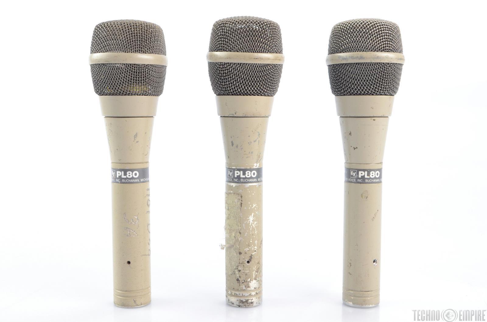 3 electro voice ev pl80 dynamic super cardioid microphones 22567 ebay. Black Bedroom Furniture Sets. Home Design Ideas