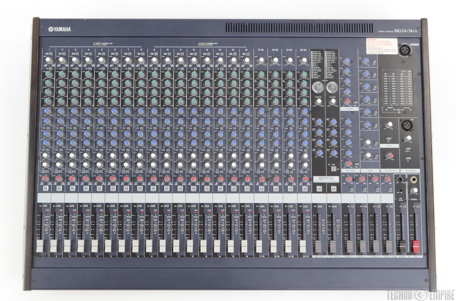 yamaha mg24 14fx 24 channel 4 bus mixing console 22583 ebay. Black Bedroom Furniture Sets. Home Design Ideas