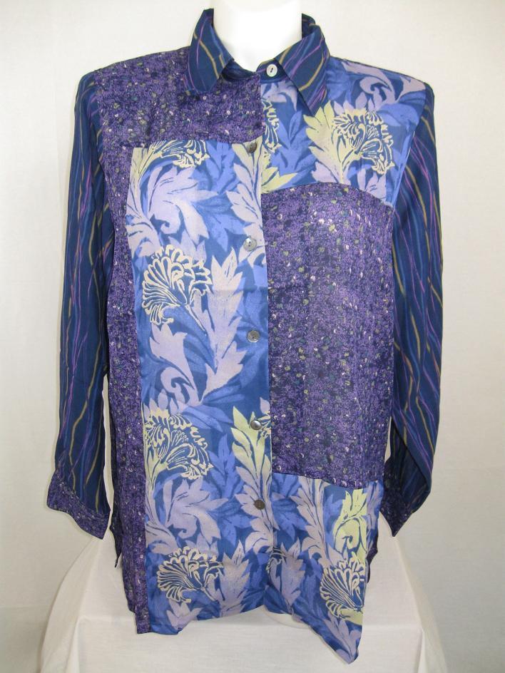 Koos of Course Batik Print Long Sleeve Polyester Big Shirt ...