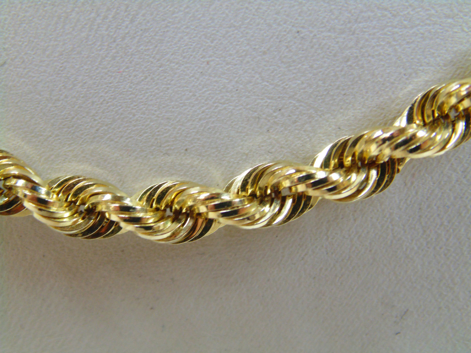 14k yellow gold rope chain necklace peru jewelry ebay
