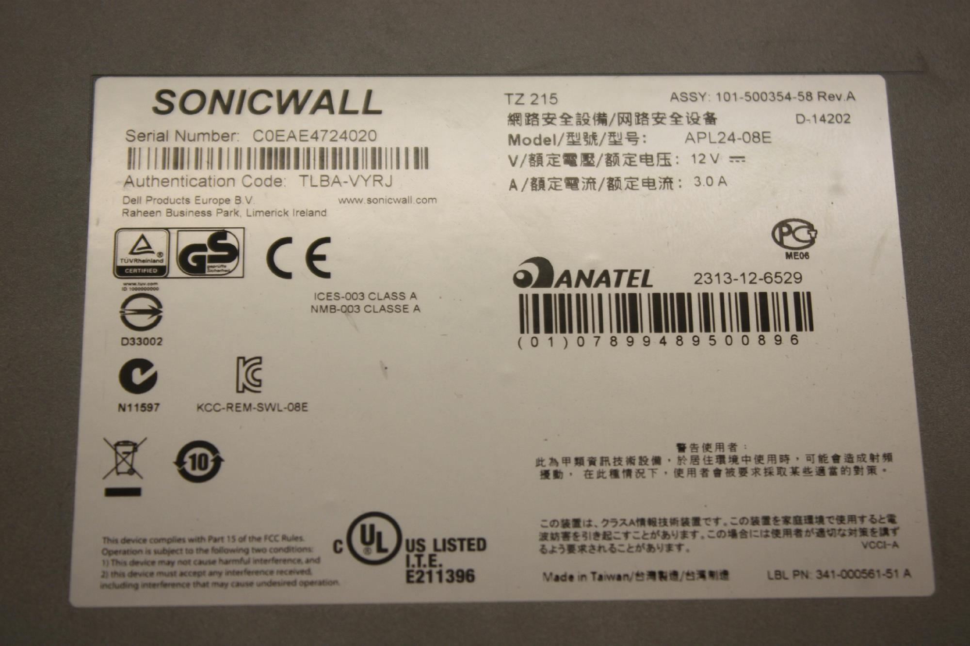 Sonicwall tz 215 network security utm firewall 01 ssc 4976for manufacturer sonicwall xflitez Image collections