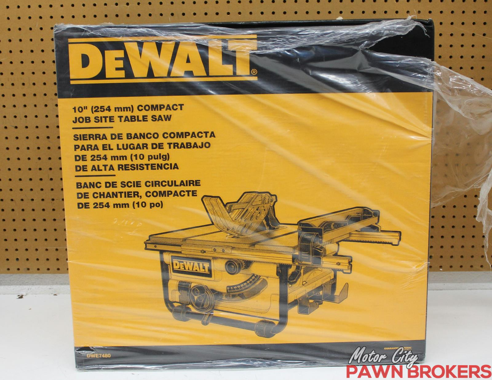 Dewalt Dwe7480 10 Compact Job Site Table Saw Brand New Ebay