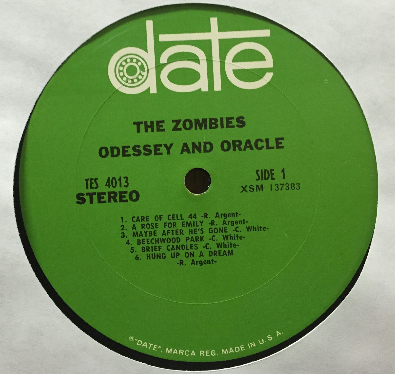 The Zombies Odessey And Oracle Lp Vg 1968 Date Tes 4013