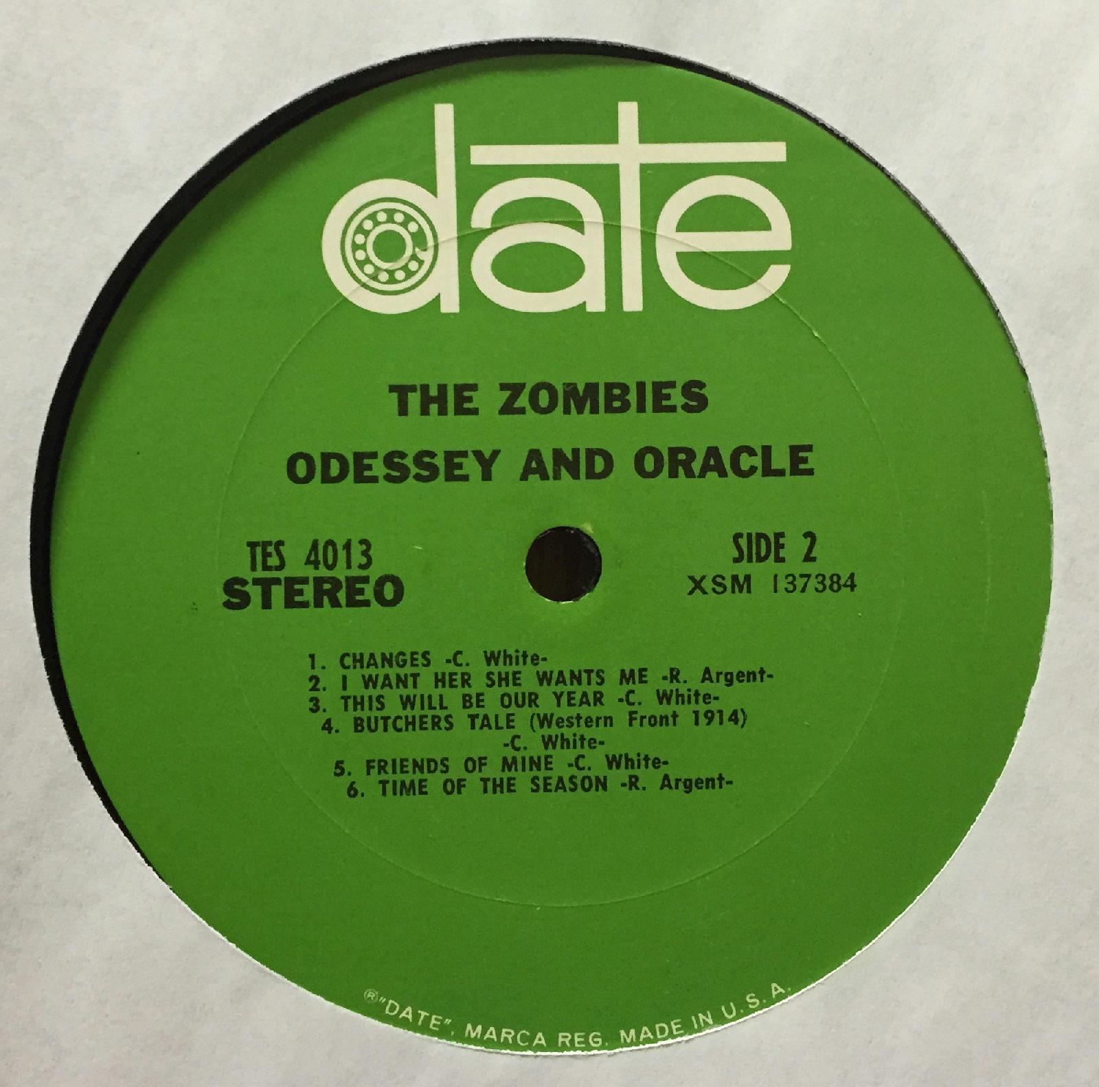 Los Zombies Odessey Y Oracle Lp Muy Bueno 1968 Fecha Tes