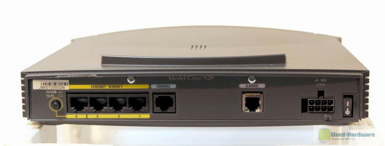 Cisco828 4 port 10 mbps ethernet hub 2 wire g shdsl integrate service router new instock901 - Ethernet cable hub 4 ports ...