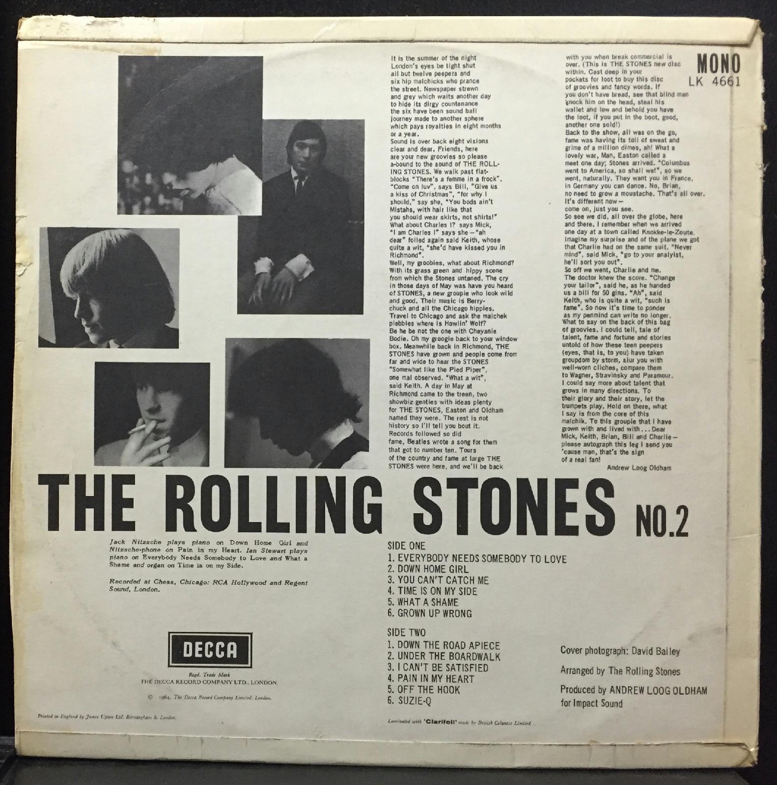 Rolling Stones No 2 Lp Vg Mono Uk Decca Lk 4661 Original
