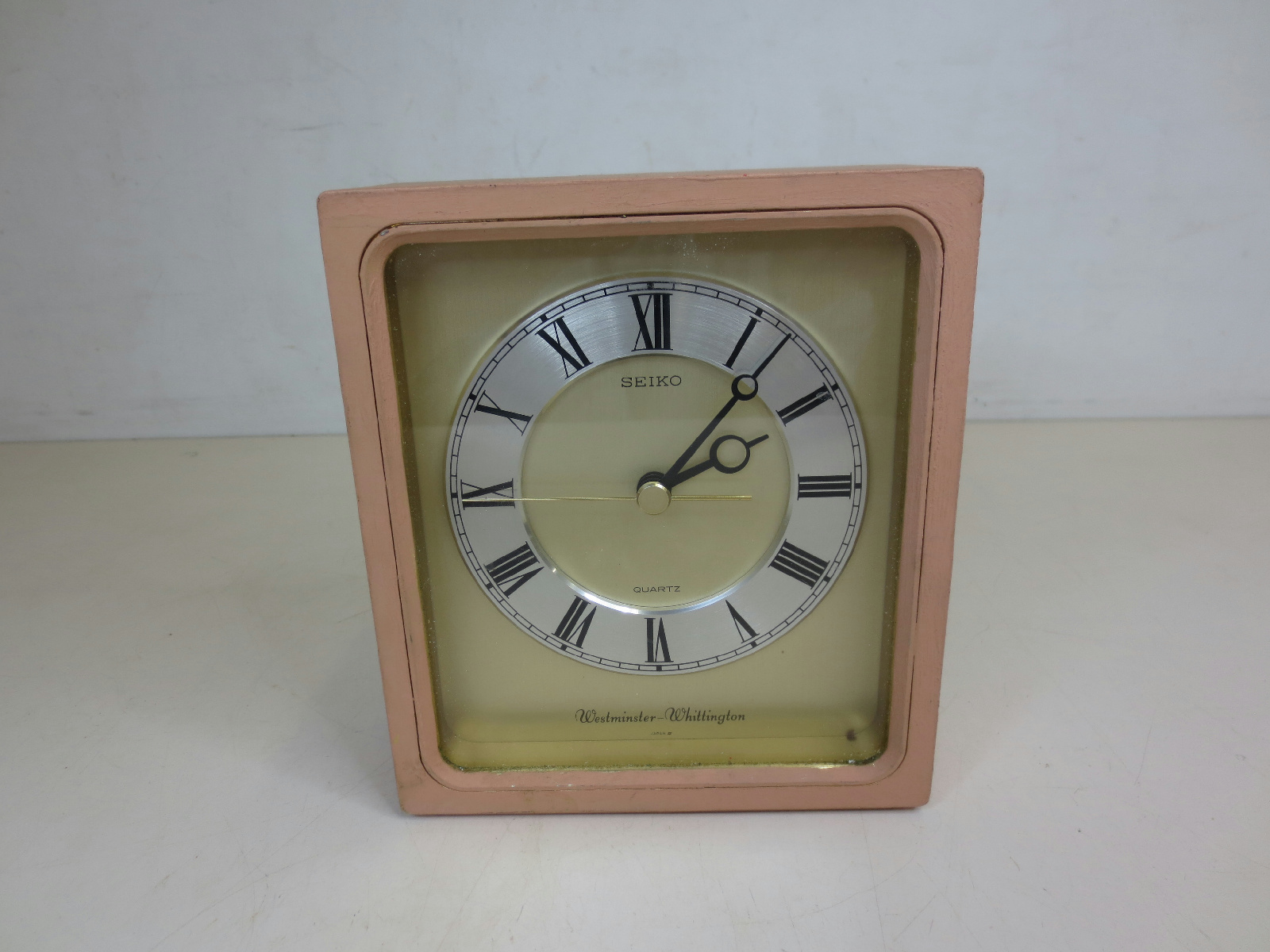 Seiko Quartz Westminster Whittington Square Clock