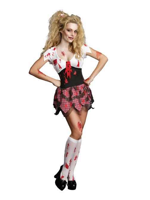 description the four piece horror high school schoolghoul costume
