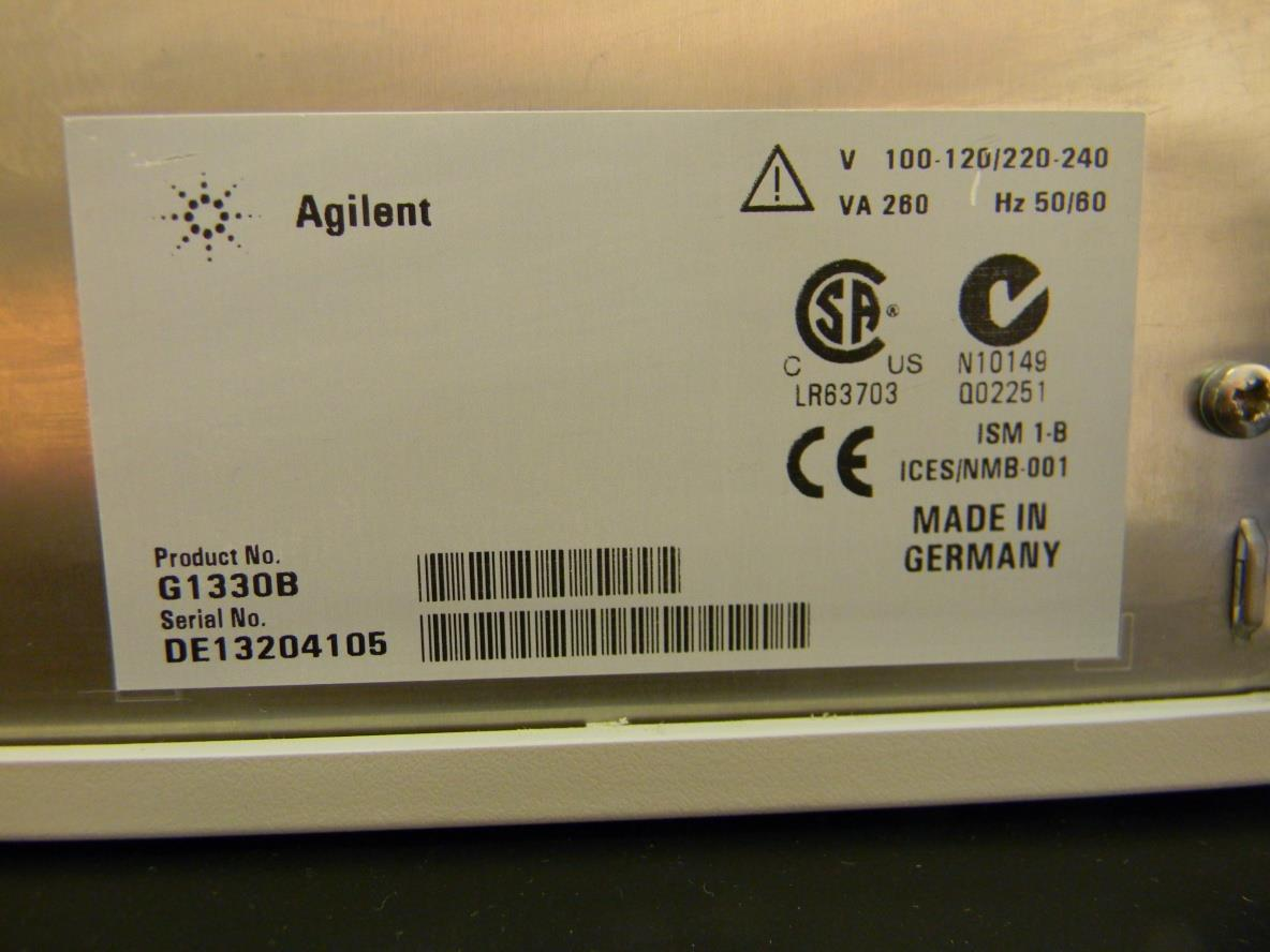 Agilent 1100 G1330B ALS Therm Thermostat for Autosampler HPLC HP  #946737