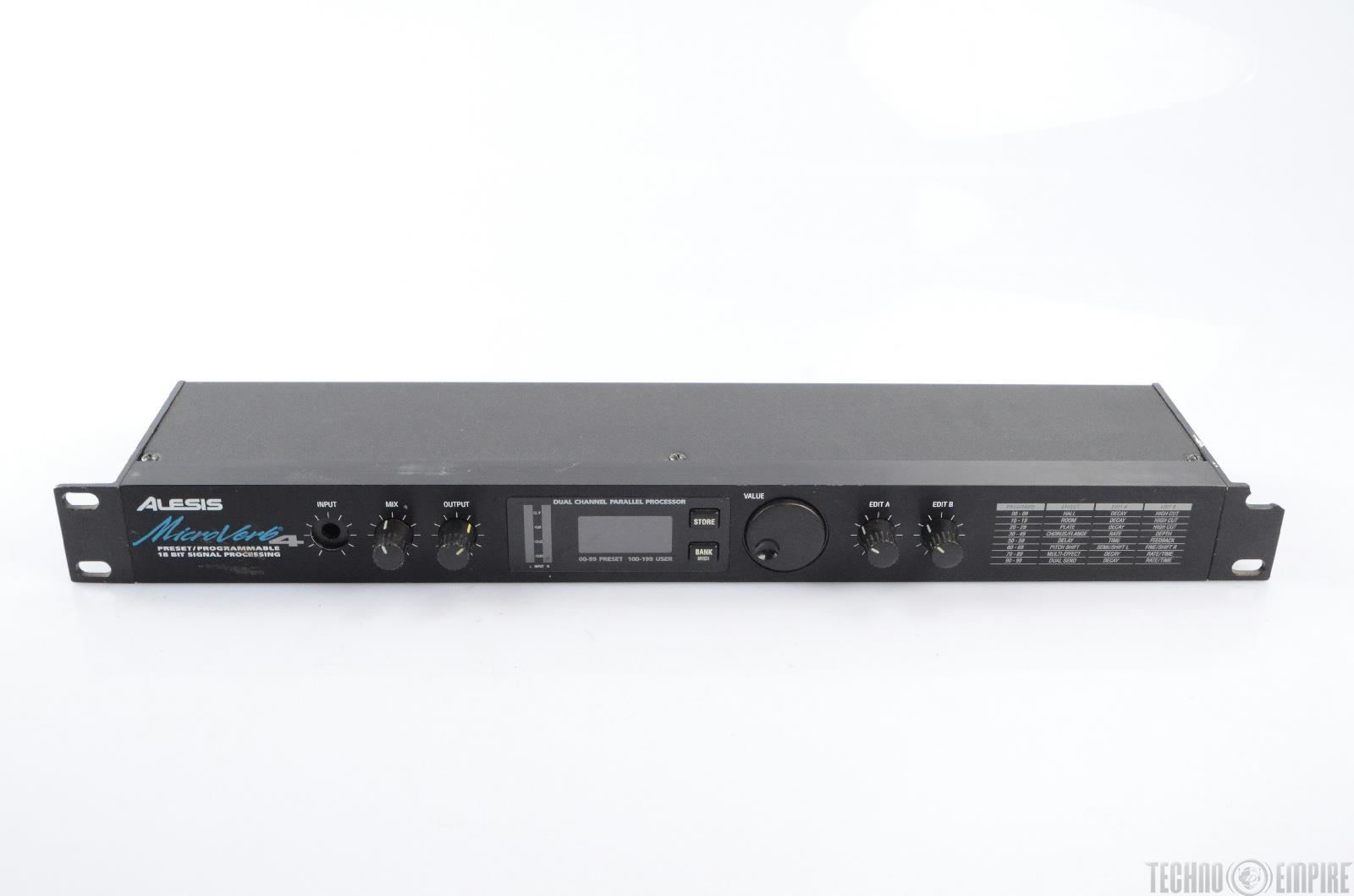 alesis microverb4 dual channel parallel multi effects processor 22832 ebay. Black Bedroom Furniture Sets. Home Design Ideas