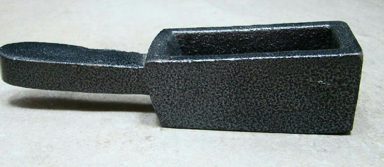 40 Oz Gold Bar Loaf Cast Iron Ingot Mold Scrap Silver 20
