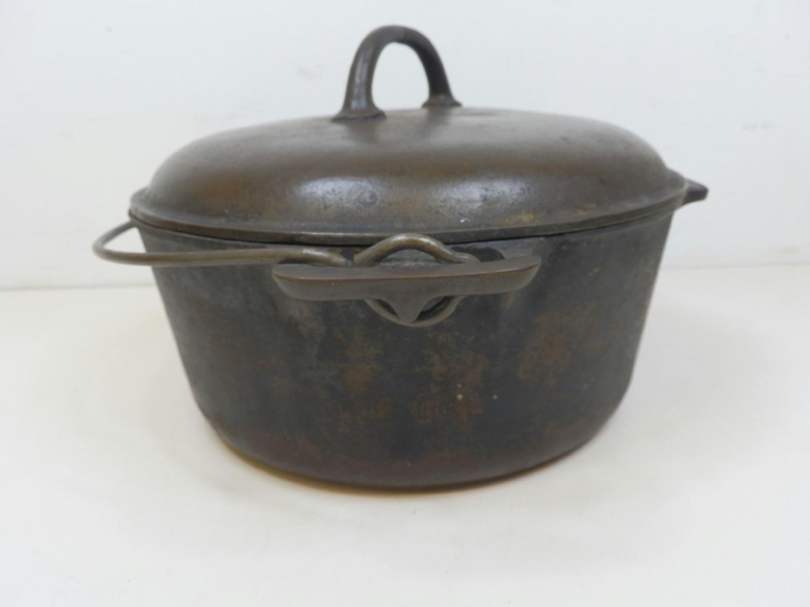 griswold cast iron 7 2503 dutch oven pot w lid ebay. Black Bedroom Furniture Sets. Home Design Ideas