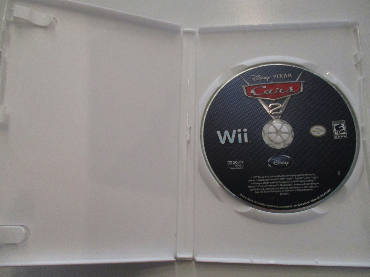 cars 2 wii instruction manual